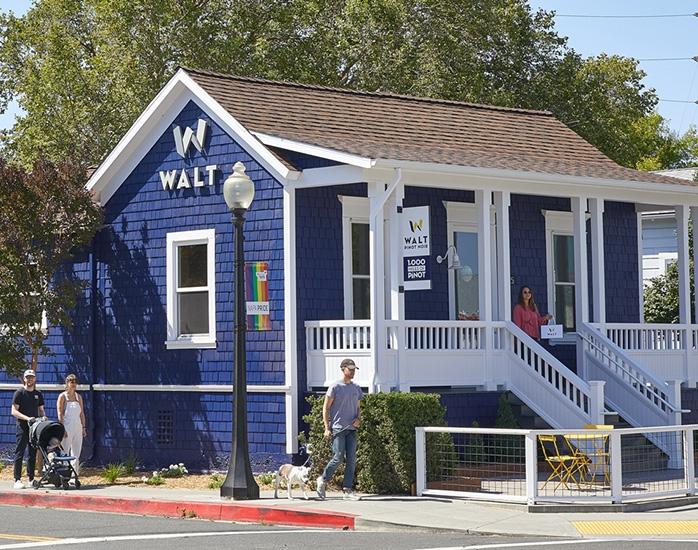 WALT Napa Oxbow tasting room