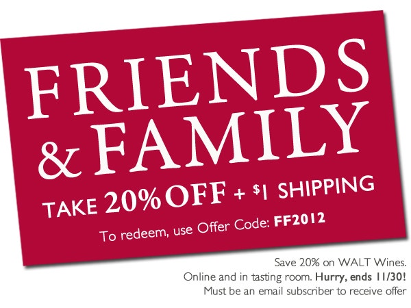 Friends and Family - 20% off!
