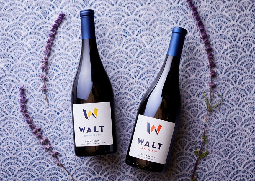 Vintner's Club 3rd Quarter Wines. 2019 Gap's Crown Pinot Noir & 2019 Brown Ranch Pinot Noir bottles image