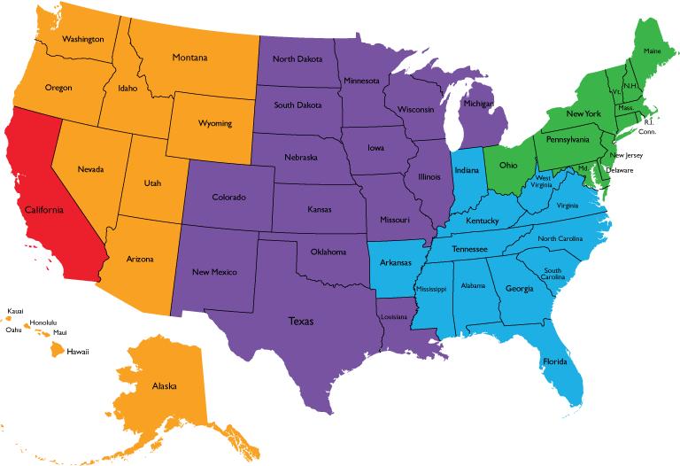HALL US Sales Team Map